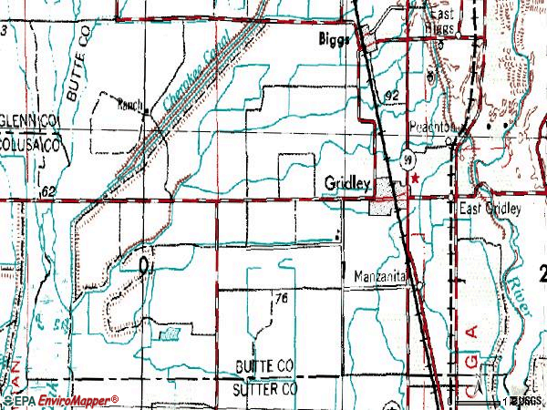 Zip code 95948 topographic map