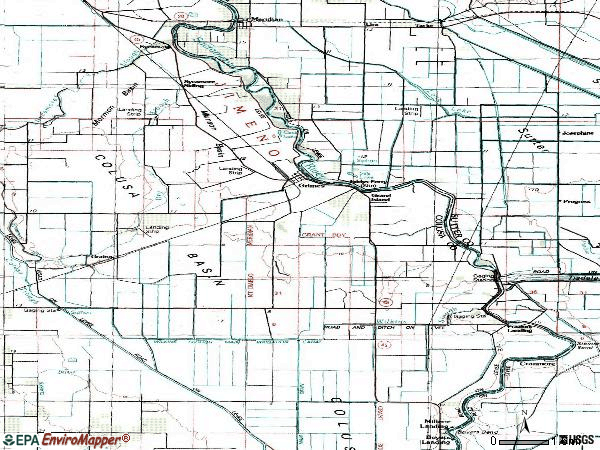Zip code 95950 topographic map
