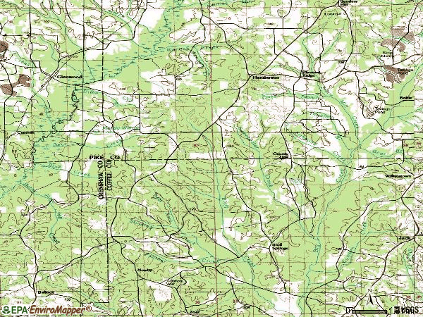 Zip code 36034 topographic map