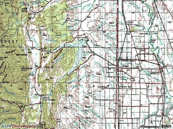 Zip code 95963 topographic map