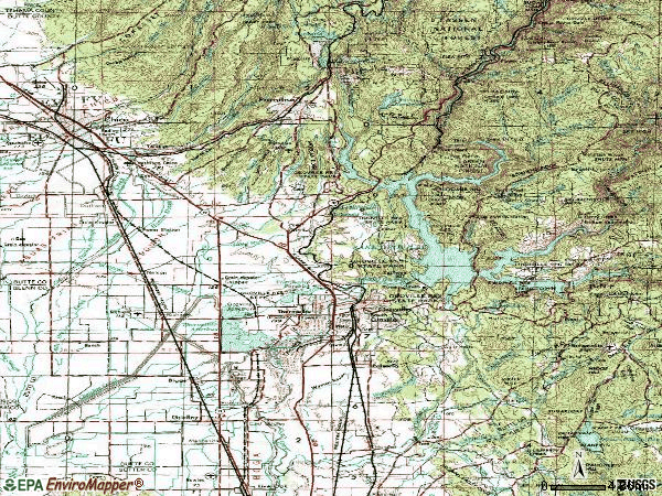 Zip code 95965 topographic map