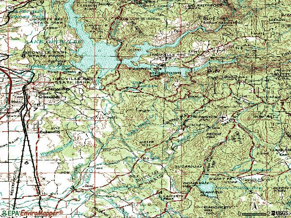 Zip code 95966 topographic map