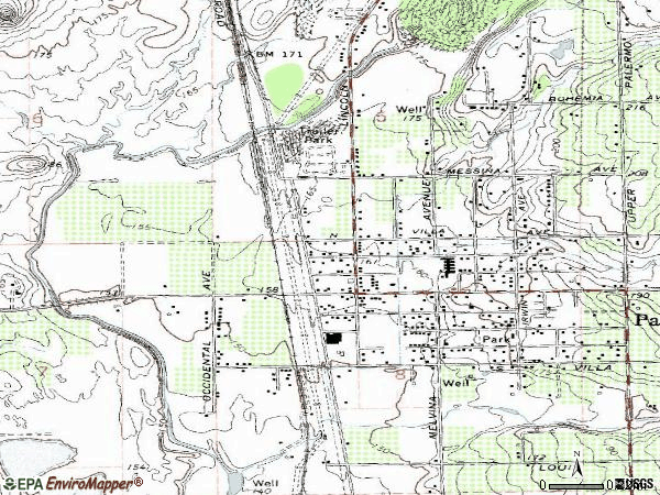 Zip code 95968 topographic map