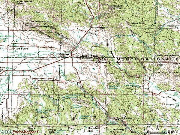 Zip code 96006 topographic map