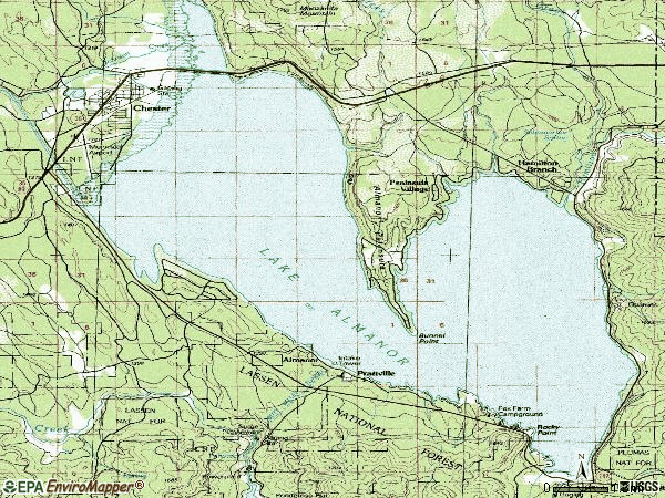 Zip code 96020 topographic map