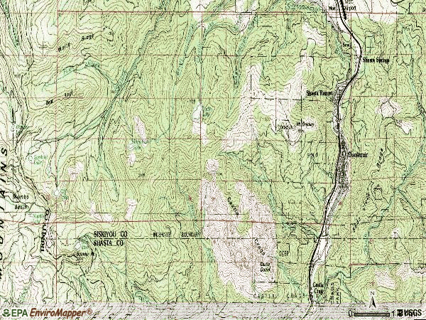 Zip code 96025 topographic map