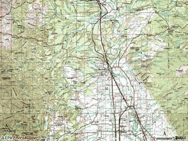 Zip code 96080 topographic map