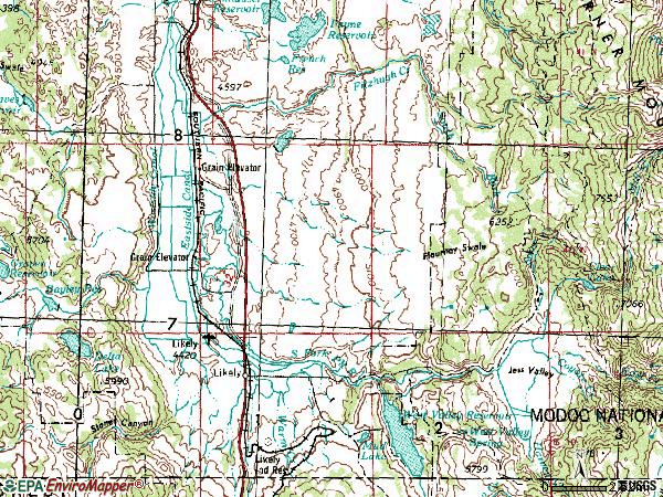Zip code 96116 topographic map