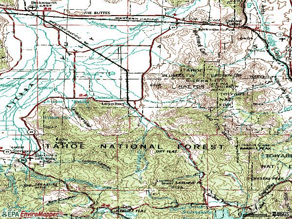 Zip code 96118 topographic map
