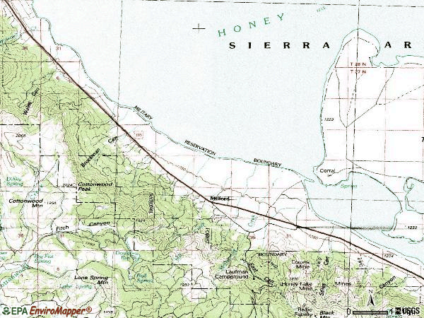 Zip code 96121 topographic map