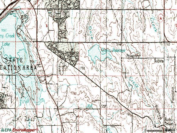 Zip code 80015 topographic map