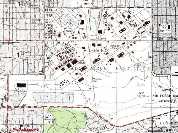 Zip code 80230 topographic map