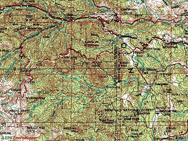 Zip code 80439 topographic map