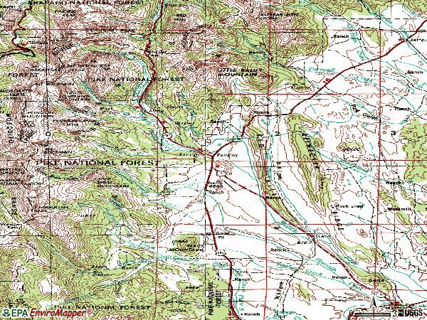 Zip code 80440 topographic map