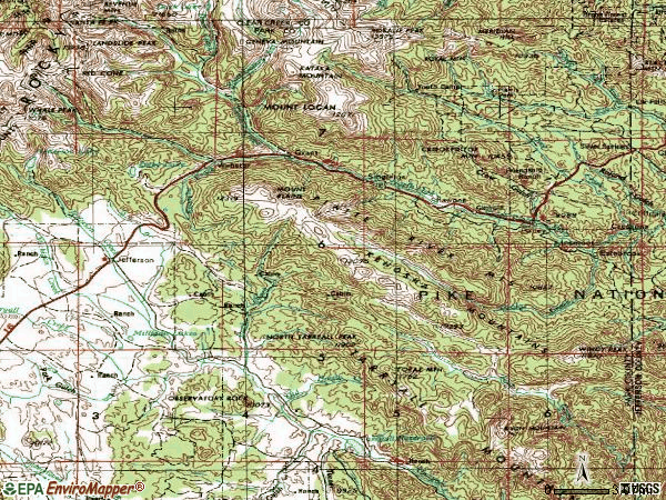 Zip code 80448 topographic map
