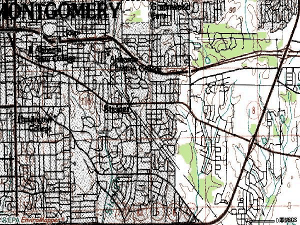 Zip code 36106 topographic map