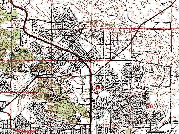 Zip code 80917 topographic map