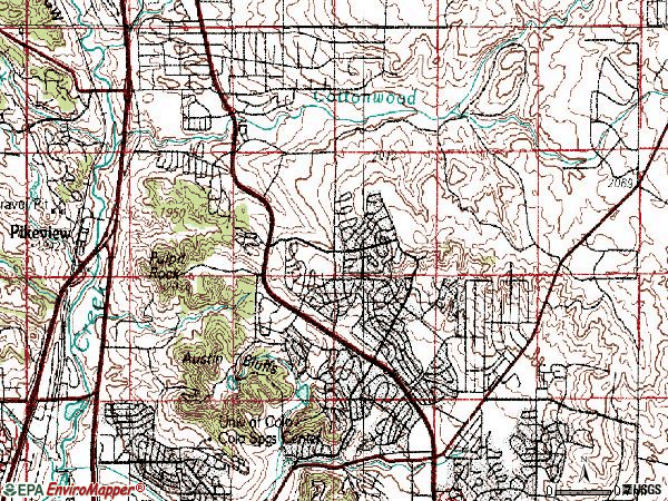 Zip code 80918 topographic map