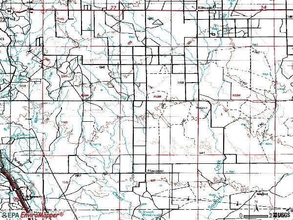 Zip code 80928 topographic map