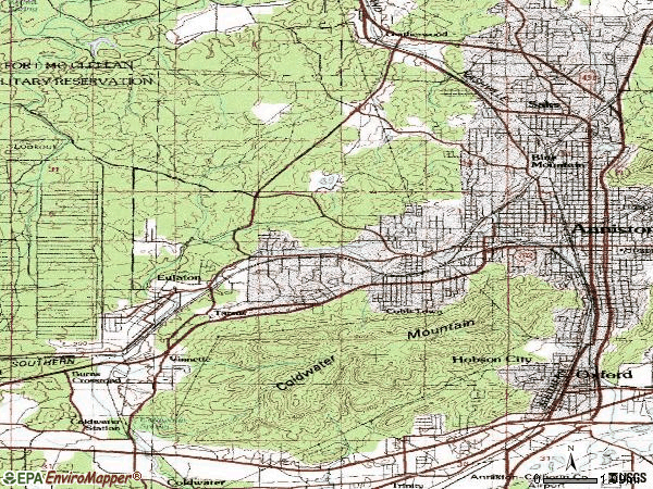 Zip code 36201 topographic map
