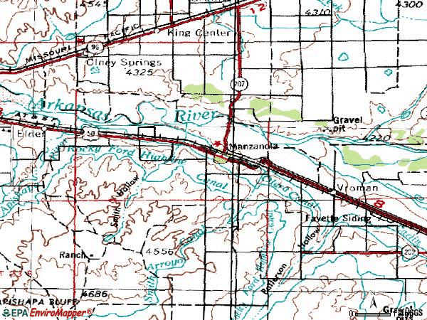 Zip code 81058 topographic map