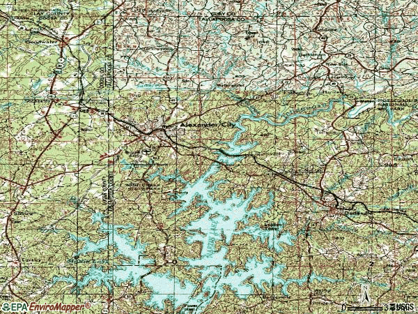 Zip code 35010 topographic map