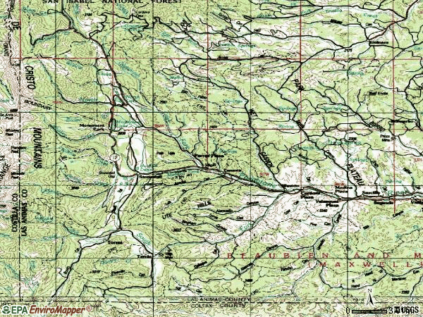 Zip code 81091 topographic map