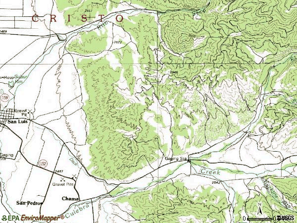 Zip code 81126 topographic map