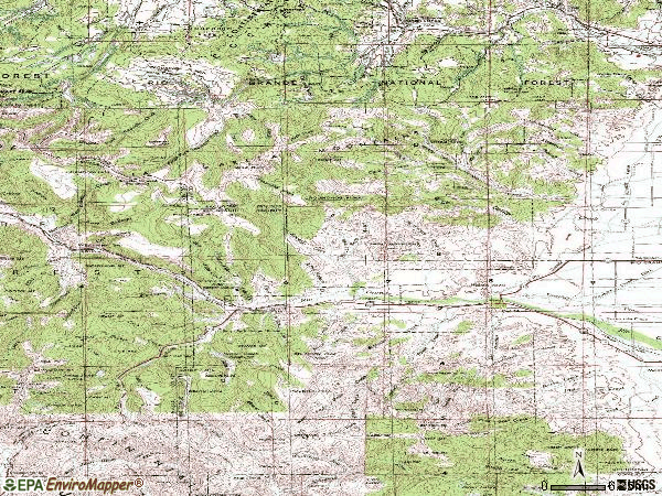 Zip code 81132 topographic map