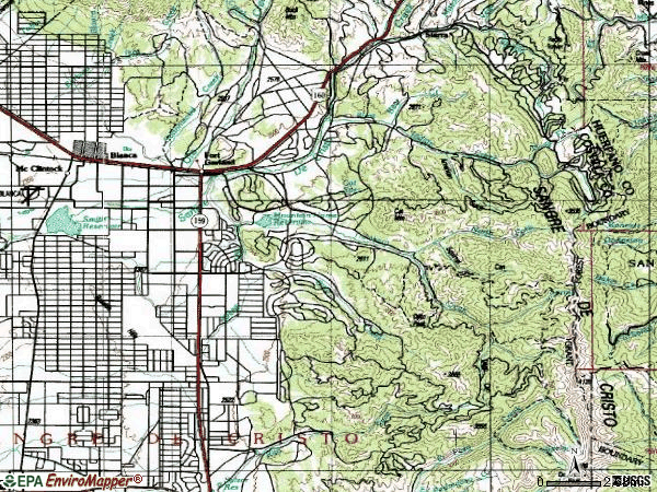 Zip code 81133 topographic map