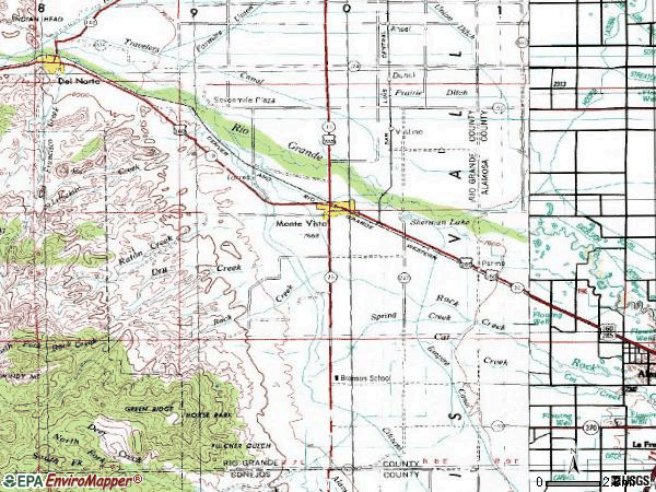 Zip code 81144 topographic map