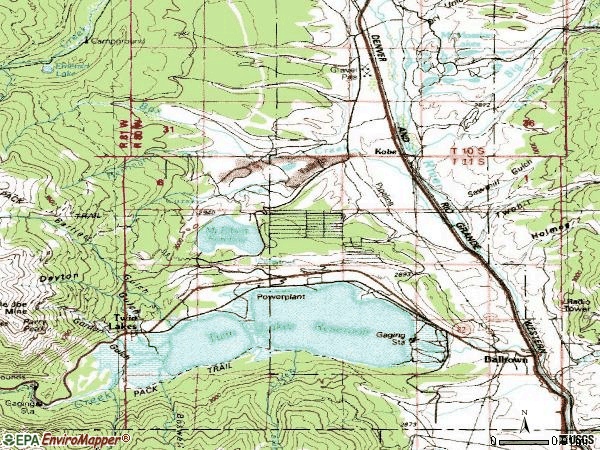 Zip code 81251 topographic map