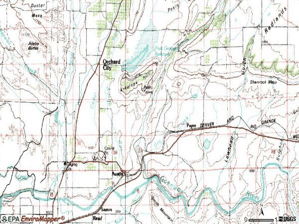 Zip code 81410 topographic map