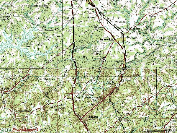 Zip code 35077 topographic map