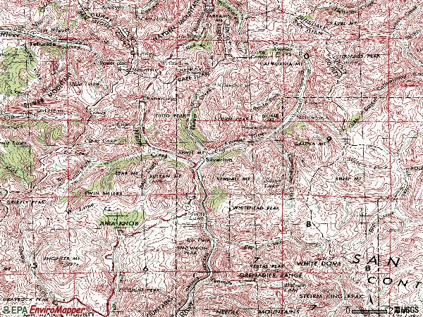 Zip code 81433 topographic map