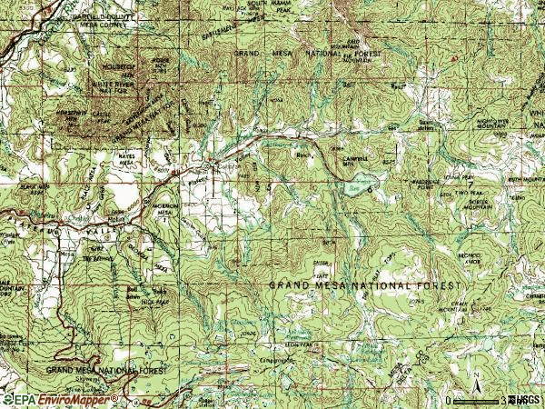 Zip code 81624 topographic map