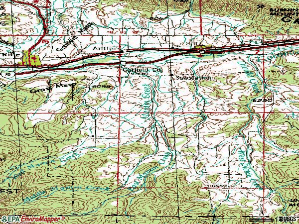 Zip code 81652 topographic map