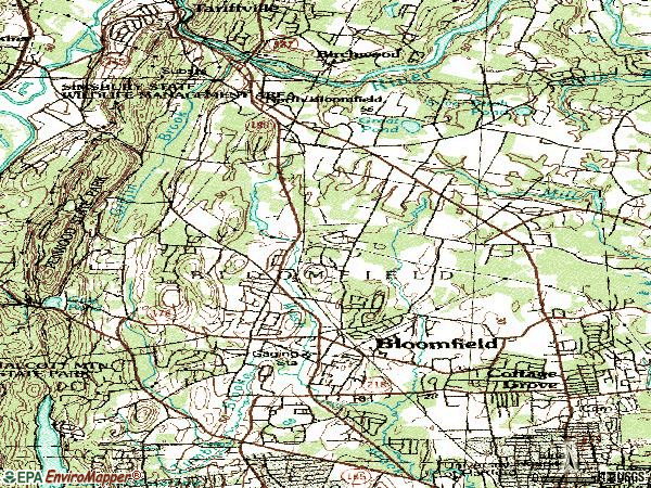 Zip code 06002 topographic map