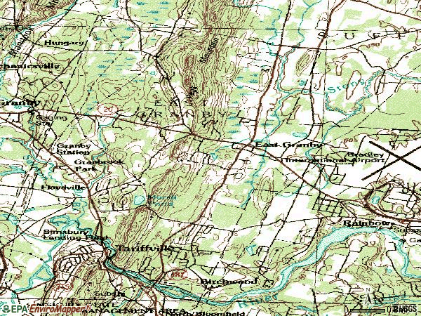 Zip code 06026 topographic map