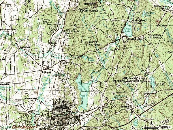 Zip code 06029 topographic map