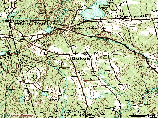 Zip code 06043 topographic map