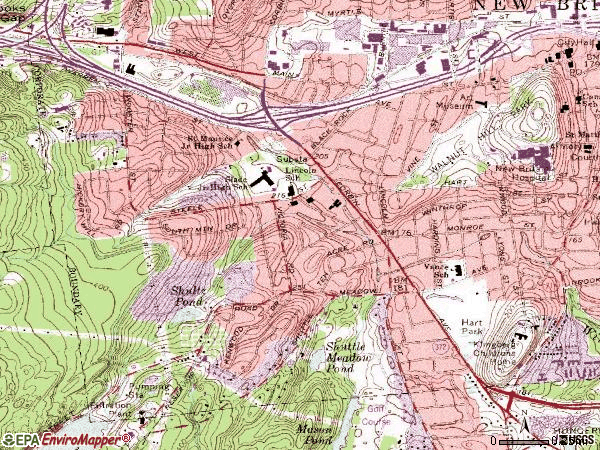 Zip code 06052 topographic map