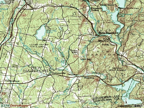 Zip code 06057 topographic map