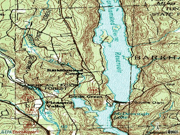 Zip code 06063 topographic map