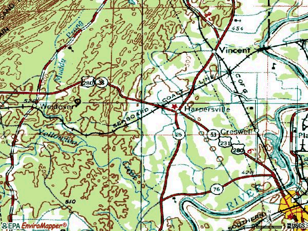 Zip code 35078 topographic map