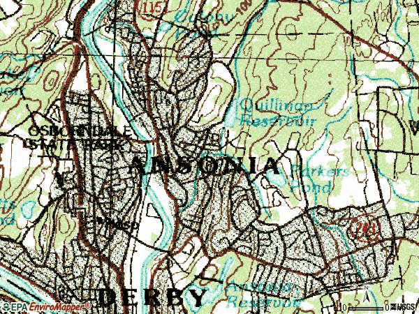 Zip code 06401 topographic map