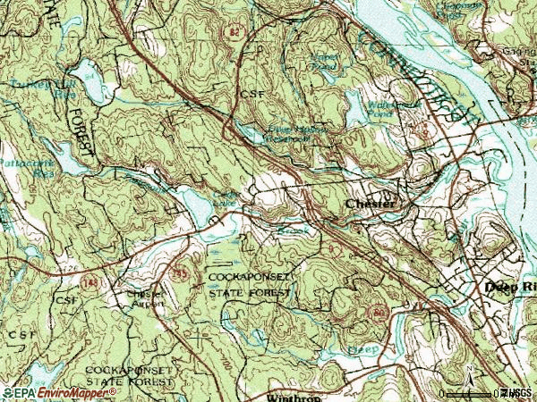 Zip code 06412 topographic map