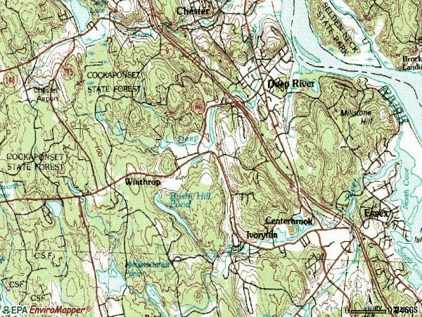 Zip code 06417 topographic map