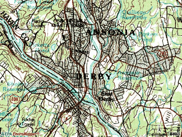Zip code 06418 topographic map