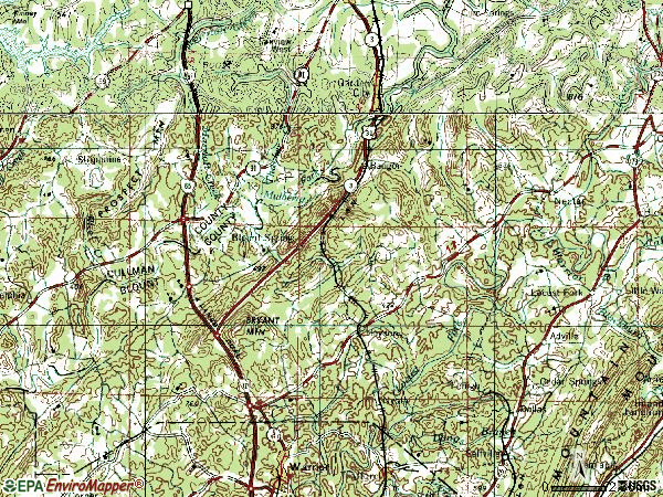 Zip code 35079 topographic map